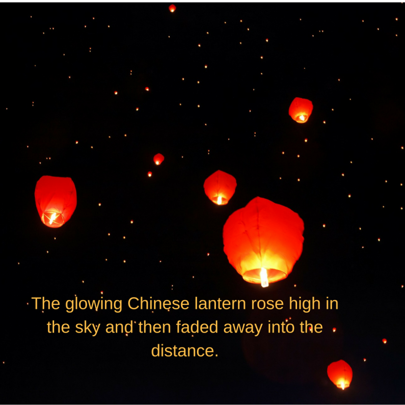 Chinese lanterns writing prompt